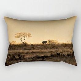 Elephant Sunset Silhouette Rectangular Pillow