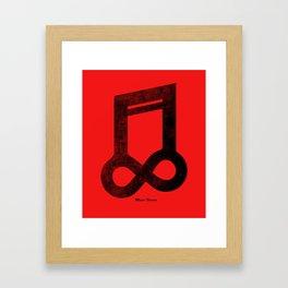 Music Forever Framed Art Print