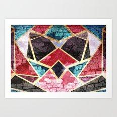 Geometric Texture Art Print