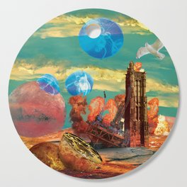 Birth and Collapse Collage Cutting Board