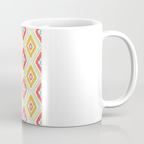 Zig Zag Ikat (white) Mug