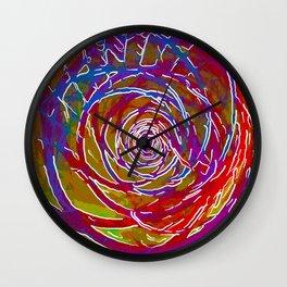 Downward Spiral Wall Clock