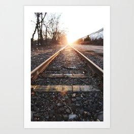 Bright Side of the Tracks Art Print