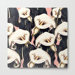 Pattern Calla lily flower Metal Print