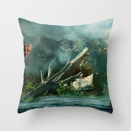 the high flyer Throw Pillow