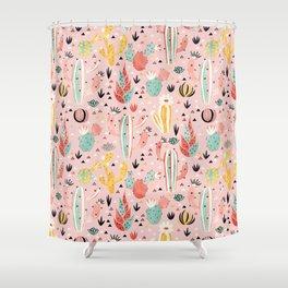 Pink Desert pattern Shower Curtain