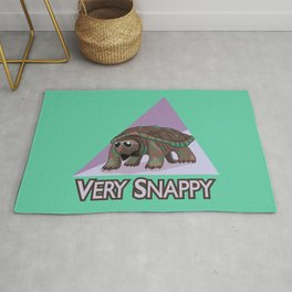 Very Snappy Snapping Turtle Rug