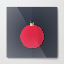 Christmas Globe - Illustration Metal Print