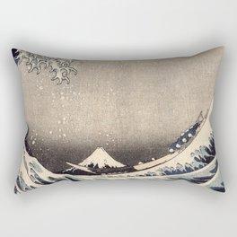 Hokusai the wave 1-hokusai,manga,fugi,japan,kanagawa,wave,edo,mount fuji Rectangular Pillow