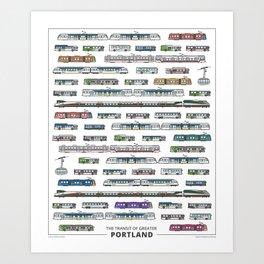 The Transit of Greater Portland Art Print