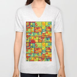 Space Alphabet Unisex V-Neck