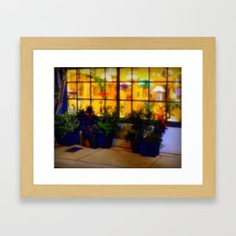 Lights in the Squares Framed Art Print