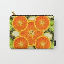 GREEN KIWI & JUICY ORANGE SLICES MODERN ART Carry-All Pouch