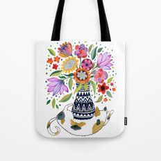 Calico Bouquet Tote Bag