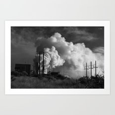 Geothermoelectrical smoke Art Print