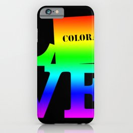 Colorado Pride USA State Love Map iPhone Case