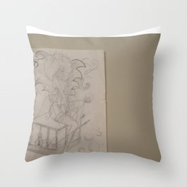 Sketches of She Throw Pillow