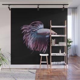 Betta fish art print Wall Mural