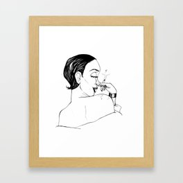 When She Knows She's Got You Framed Art Print