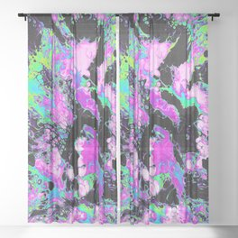 PALM TREES Sheer Curtain