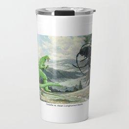 Godzilla vs. Asianlonghorned Beetle Travel Mug