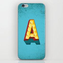A in lights iPhone Skin
