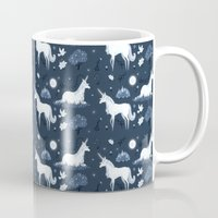 the last unicorn Mugs featuring The Last Unicorn by Sophie Eves