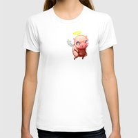 pigs T-shirts featuring When Pigs.... by Stephen Yan