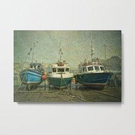 Boats at Newquay Metal Print