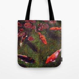 Koi Fish Swimming at Volunteer Park Tote Bag