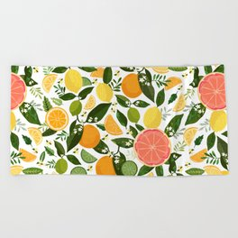 Punch Bowl Pattern Beach Towel
