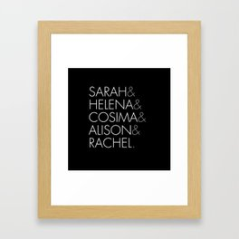 Orphan Black Clone Club Framed Art Print