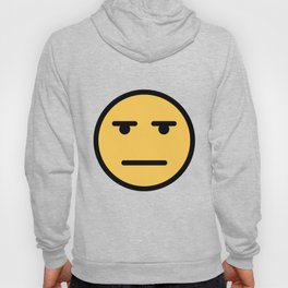 Smiley Face   Whatever Annoyed Looing Face Hoody