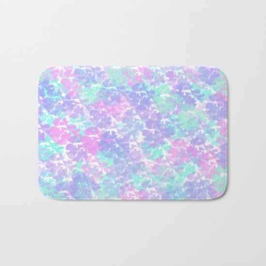 Soft Painterly Fluffy Pastel Abstract Bath Mat