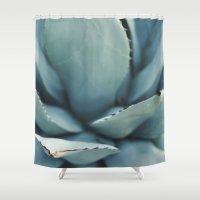 succulents Shower Curtains featuring succulents by Die Schönheit des Augenblicks