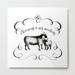 Back to Our Sheep Metal Print