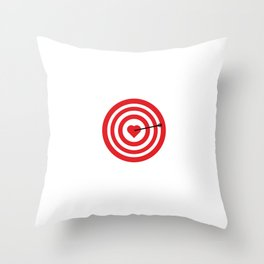 Target with Heart Throw Pillow