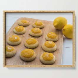 Lemon Butter Cookies with Lemon Curd Serving Tray
