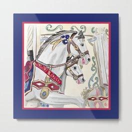 Colorful Carousel Metal Print