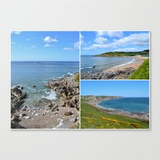 Gower Peninsula Collage Canvas Print