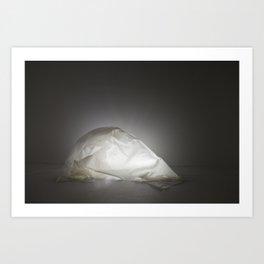 Glowing Glue Shell Art Print