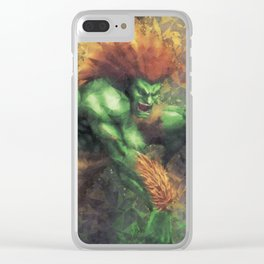 Street Fighter 2 - Blanka Clear iPhone Case