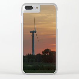 Windräder im Sonnenuntergang Horumersiel Clear iPhone Case