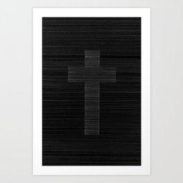 A CROSS TO BEAR Art Print