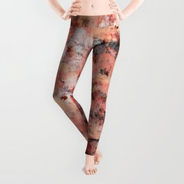 011: a bright contemporary abstract design in pinks black and white by Alyssa Hamilton Art  Leggings
