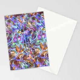 Floral Abstract Stained Glass G268 Stationery Cards