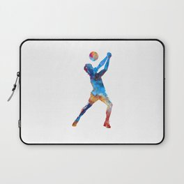 Volley ball player man 01 in watercolor Laptop Sleeve