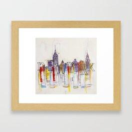 Abstract New York Framed Art Print