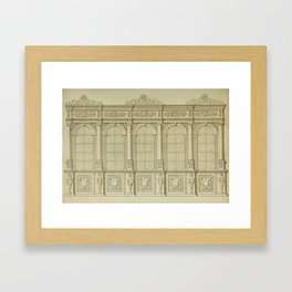 Classical Library Architecture Framed Art Print