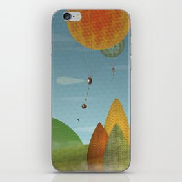Balloons over the hills iPhone Skin